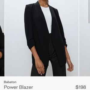 Aritzia Babaton Black Power Blazer 12